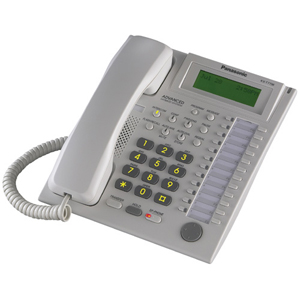 Panasonic BTI KX-T7736 24-Button Speakerphone Telephone with LCD Screen - White
