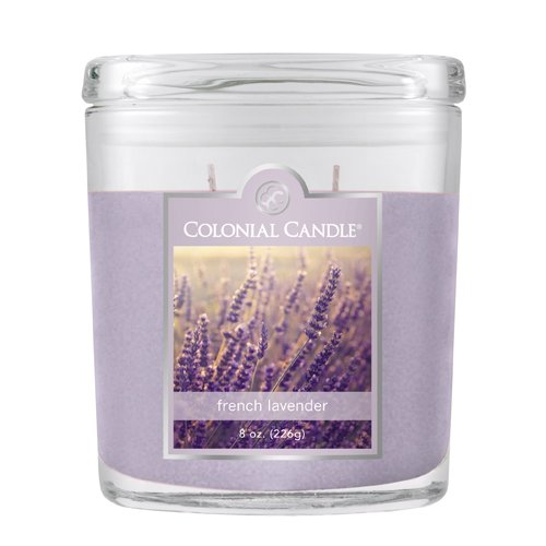 Fragranced in-line Container CC008.1342 8oz. Oval French Lavender - Pack of 4