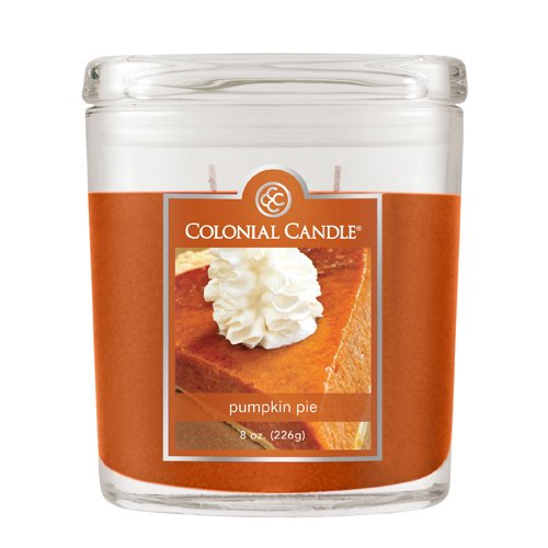 Fragranced in-line Container CC008.1659 8oz. Oval Pumpkin Pie - Pack of 4