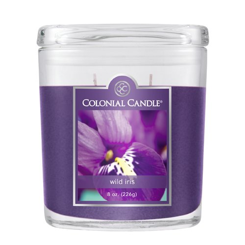 Fragranced in-line Container CC008.2071 8oz. Oval Wild Iris - Pack of 4