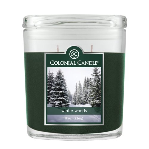 Fragranced in-line Container CC008.706 8oz. Oval Winter Woods - Pack of 4