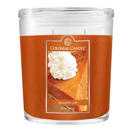Fragranced Inline Container Cc0221659 22oz Oval Pumpkin Pie Candles Pack Of 2 image