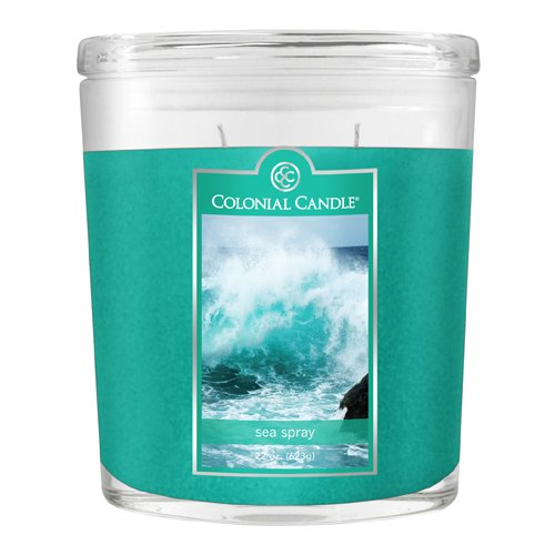 Fragranced Inline Container Cc0221899 22oz Oval Sea Spray Candles Pack Of 2 image