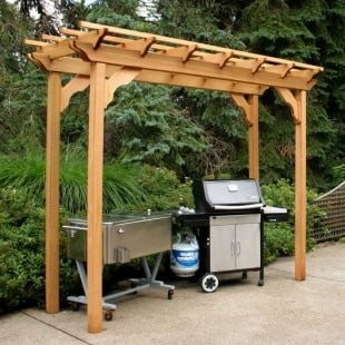 Creek Vine Design WRF38PERGCVD 3 ft. x 8 ft. Cedar New Dawn Pergola