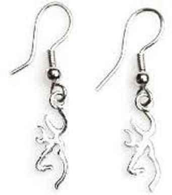 SPG Accessories GT1016 Browning Silver Buckmark Drop Earring