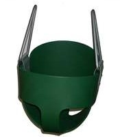 Jensen S-100G Commercial Tot Full Bucket Rubber Seat - Green with Insert