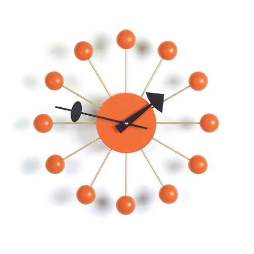 Kirch G81015ORANGE Control Brand Ball Clock - Orange