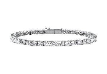 Fine Jewelry Vault UBBR18WRD131500D Diamond Tennis Bracelet 18K White Gold 5.00 CT Diamonds