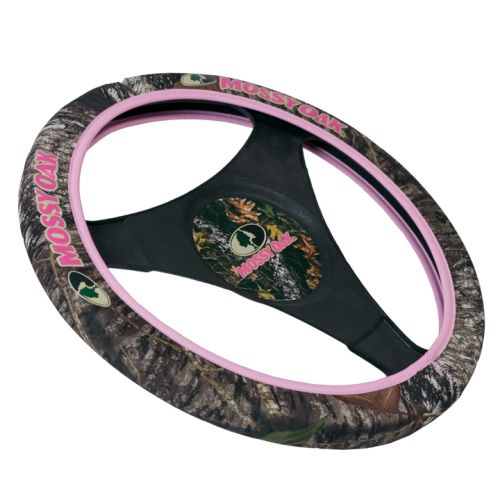 SPG Auto MSW4404 Mossy Oak For Her Steering Wheel Cover - Neoprene - Camouflage and Pink