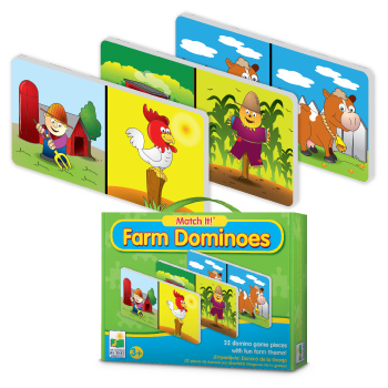 The Learning Journey Learning Journey 443989 Match It Farm Dominoes at Sears.com