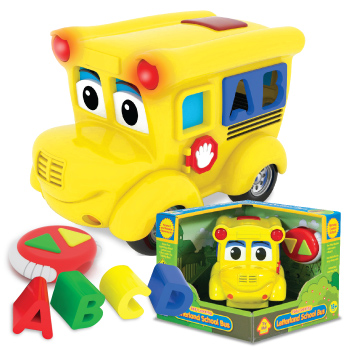 Learning Journey 104699 Remote Control Shape Sorter-Letterland School Bus