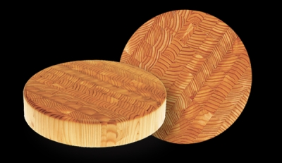 "Larchwood cher 10"" Diameter x 2"" Thick Round Cheese Board"