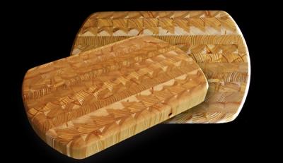 Larchwood ceb 38.1 x 24.1 x 3.8cm Kitchen Knives & Cutlery Accessories Wood End Curve Cutting Board