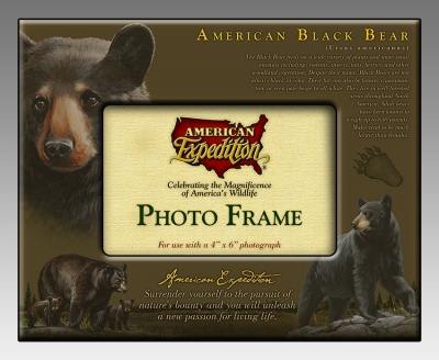 American Expedition FRAM101 PHOTO FRAME  BLACK BEAR