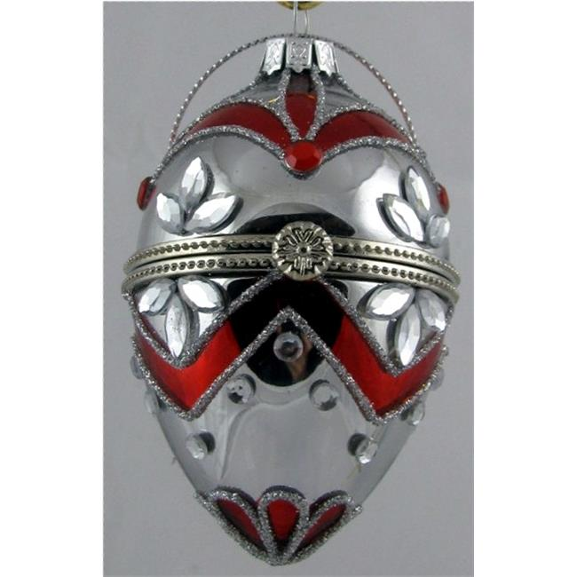 Horizons-East-11341-Silver-Red-Faberge-Style-Opening-Egg-Ornament