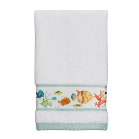 Creative Bath TP1073WMULT Rainbow Fish Wash Cloth