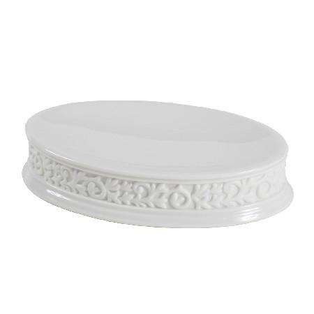 Creative Bath CMO56WH Cosmopolitan Scroll Soap Dish - White and Black