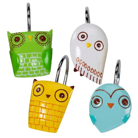 Creative Bath GIV83MULT Give A Hoot Shower Curtain Hooks