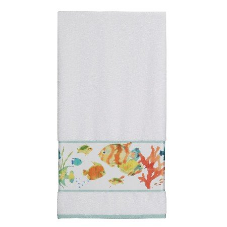 Creative Bath TP1073BMULT Rainbow Fish Printed Bath Towel