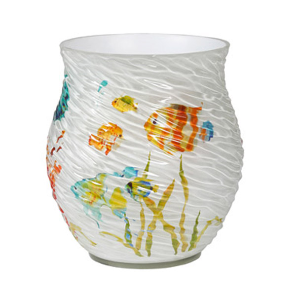 Creative Bath RBF54MULT Rainbow Fish Resin Wastebasket