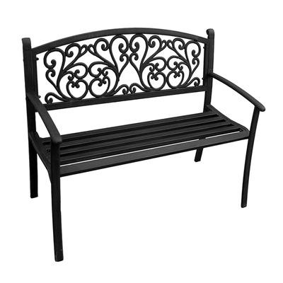 Jordan Manufacturing 3K-SSCROLL Steel Park bench - Black
