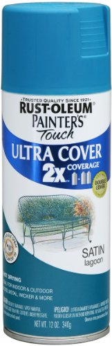 Rust-Oleum PTUCS249-461 Painters Touch Ultra Cover Satin Aerosol Paint 12 Ounces-Lagoon