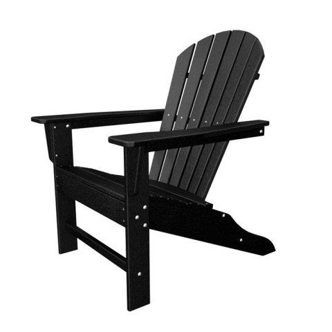 Poly Wood SBA15BL South Beach Adirondack Chair - Black