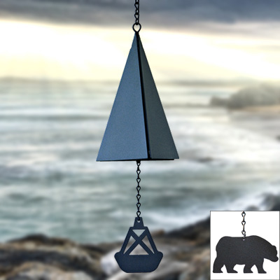 North Country Wind Bells#44; Inc. 117.5001 Outer Banks Bell with bear wind catcher