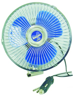 Barjan 023270 12V OSCILLATING FAN - BLUE