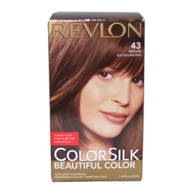 ... Color 43 Medium Golden Brown 1 Application | Dark Brown Hairs