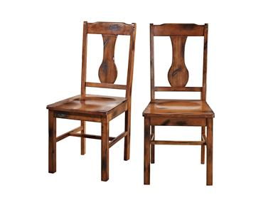 Walker Edison CHH2DO Solid Wood  Dark Oak Dining Chair  Set of 2