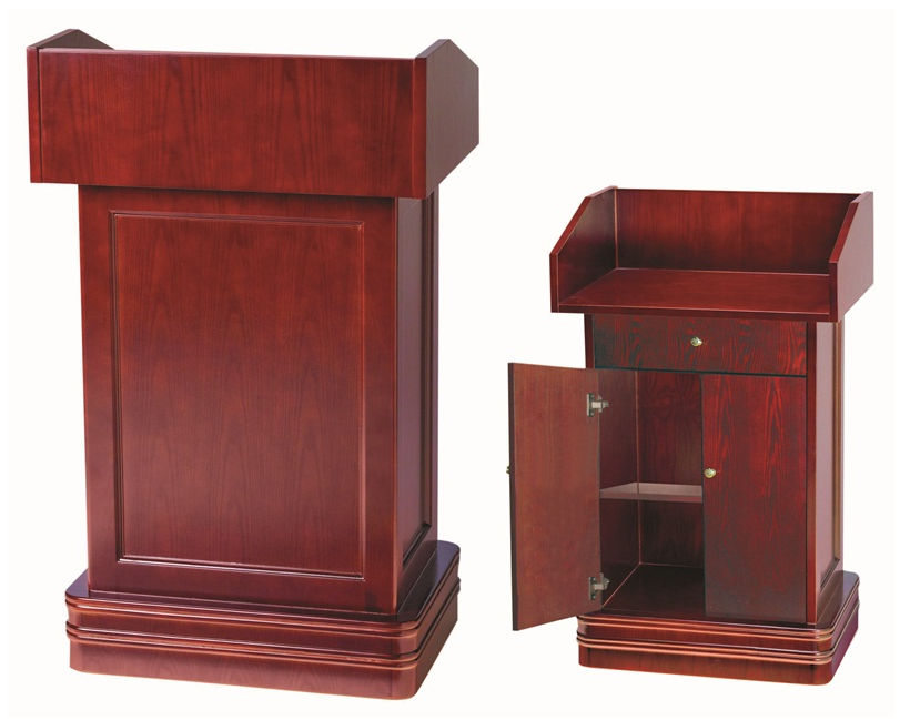 Aarco Products Pod-2 Aarco Products Pod-2 Podium. Crafted With All Hardwood Design And Classic Cherry Finish. Size 29 1/8 In.Lx21 5/8 In.Wx47 1/4 In.H.