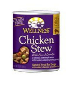 Wellness B60834 Wellness Chicken Stew With Peas and Carrots -12x12.5 Oz