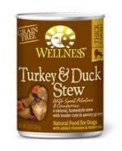 Wellness B60837 Wellness Turkey and Duck Stew With Sweet Potatoes and Cranberries -12x12.5 Oz