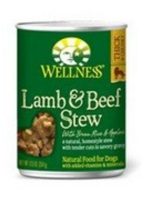 Wellness B60839 Wellness Lamb and Beef,stew With Brown Rice and Apples -12x12.5 Oz