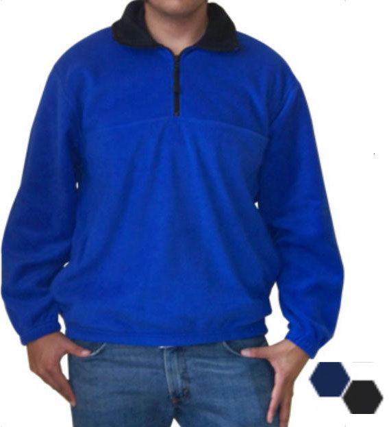 Colorado Timberline SPF Steamboat Men-Unisex Navy Fleece Pullover Large