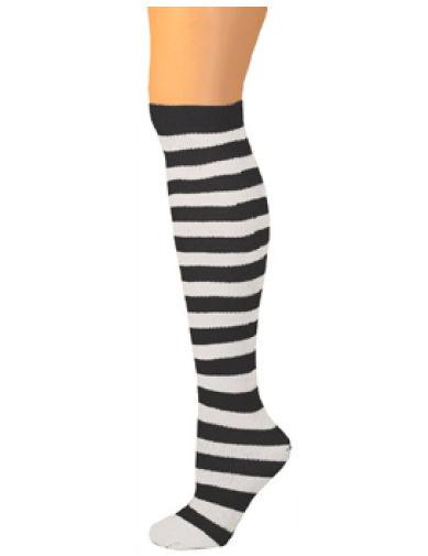 AJs A503025 Child Thigh High Ragdoll Socks - Black-White
