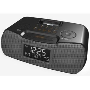 Sangean America RCR-10BLACK AM FM Atomic Clock Radio Dock