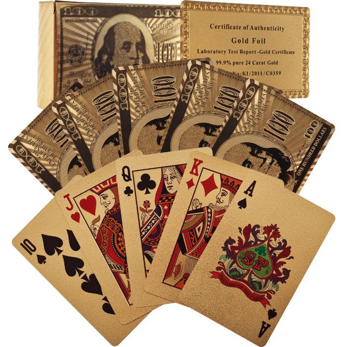 Trademark Poker 10-24KG Trademark Poker 24k Gold Playing Cards