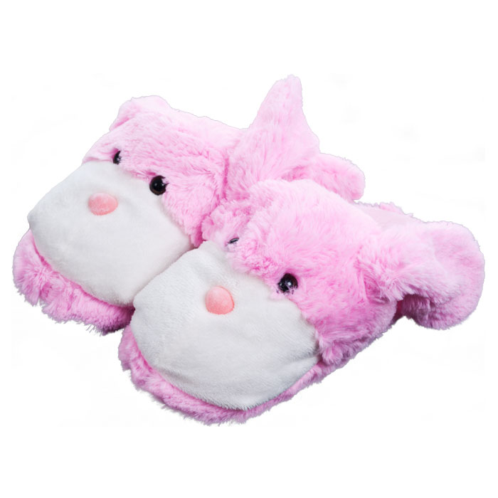 Trademark Poker 80-01517 Kids Cuddlee Slippers - Bunny - Ages 6 - 12