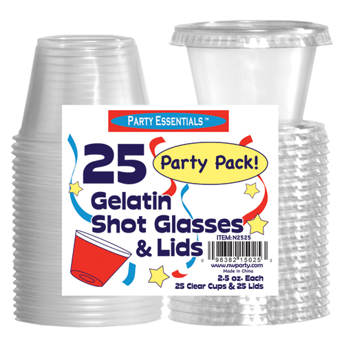 True Fabrications 1477 2.5 oz Jello Shot Cups with Lids