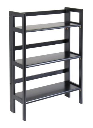 WINSOME TRADING-20896-Stackable - Folding Shelf 3-tier-Black