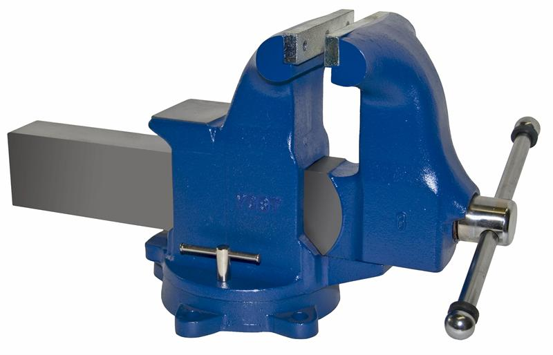 Yost Vises 12080 8W Jaw Heavy-Duty Industrial Machinist Bench with Vise-Swivel Base