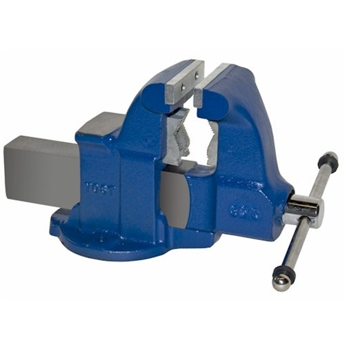 "Yost Vises 10132 4-1/2"" Combination Pipe and Bench Vise - Stationary Base"
