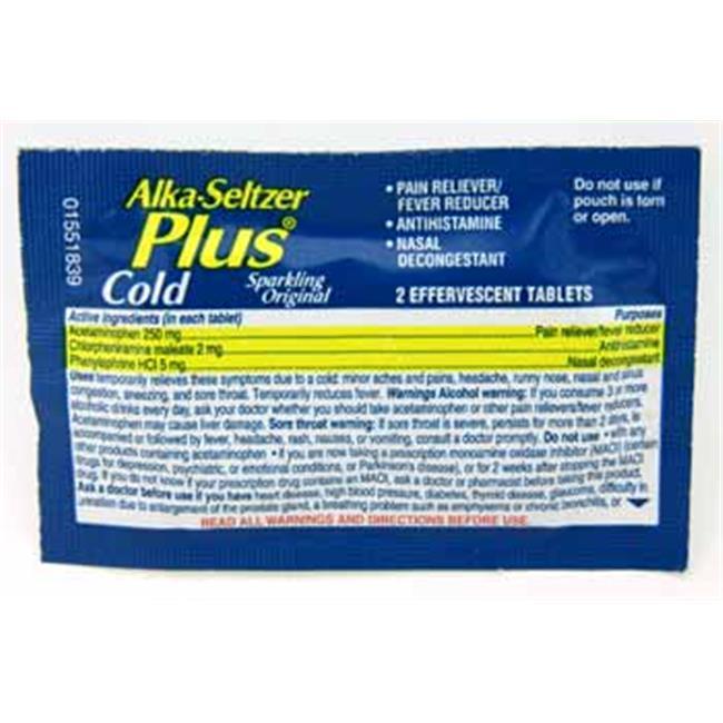 Alka Seltzer 361768 Alka Seltzer Plus Cold Medicine Case Of 30