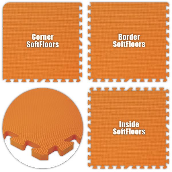 Alessco SFOE1226 SoftFloors -Orange -12  x 26  Set