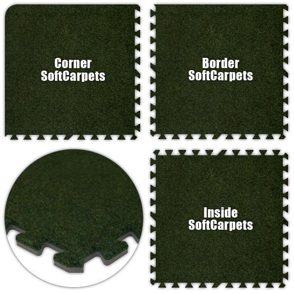 Alessco SCGG2234 SoftCarpets -Grass Green -22 x 34 Set