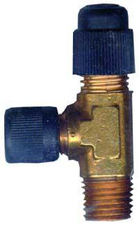 Robinair ROB15195 Tee 1/2 and 1/4 Inch Fittings Pump Inlet Adapter