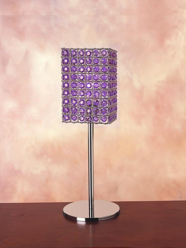 Trend Lighting TT4468 Carina Table Lamp - Purple Shade