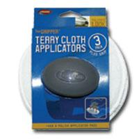 Carrand CRD40122 The Gripper 5 Inch Terry Applicators - 3 Pack